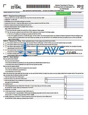 Form 2210AL Underpayment of Estimated Tax by Individuals