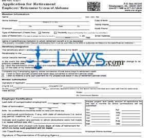 Retirement Application Packet Part I State