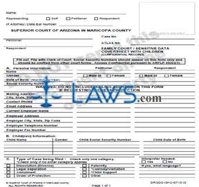 Form DRSDS10f-C Sensitive Data Coversheet With Children