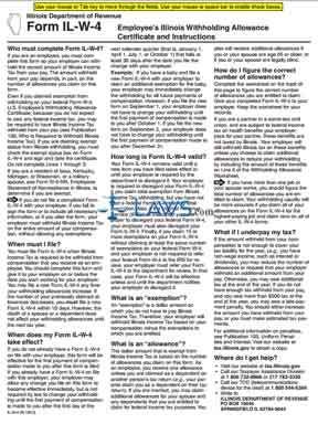 Illinois Forms » Form IL-W-4 Employee's Illinois Withholding