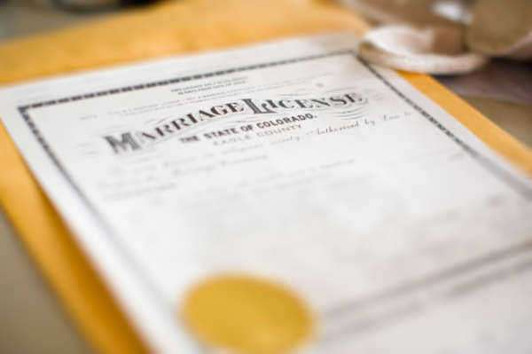 Copy of Marriage License North Carolina